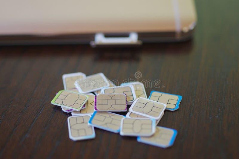 Wiele sim karty wybierać zdjęcie royalty free