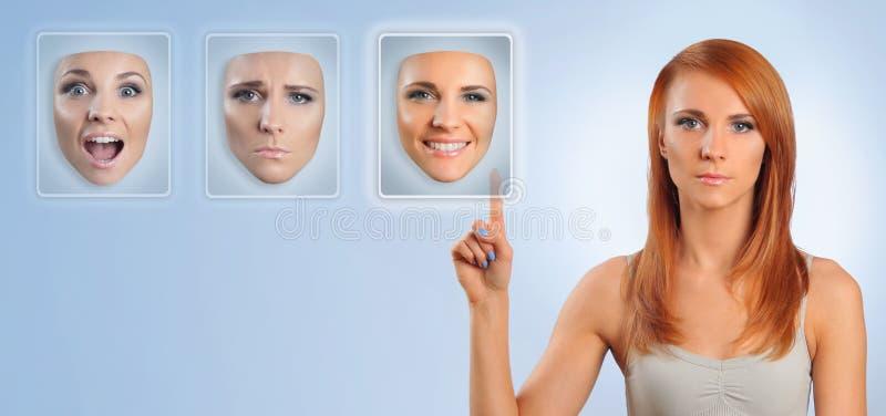 Download Wiele twarze ilustracji. Obraz złożonej z cięcie, facial - 27691918