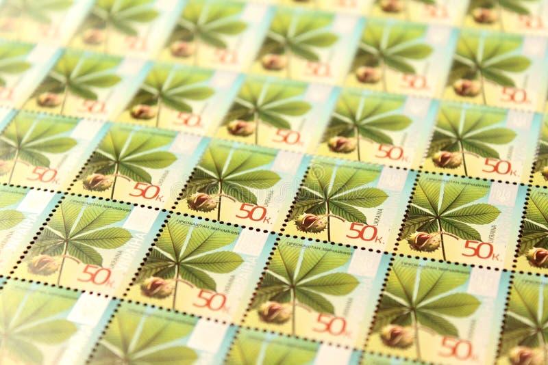 Wiele znaczków pocztowych piękny nowożytny zbliżenie zdjęcie stock