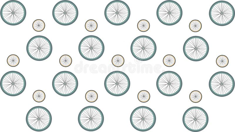 Wielen van de fiets Patroon vector illustratie