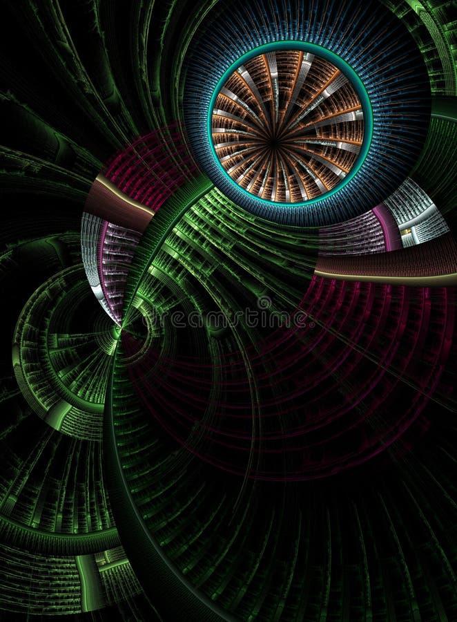 Wielen van tijd vector illustratie