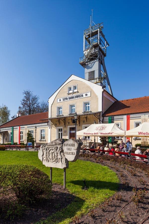 Wieliczka - Πολωνία Άξονας Danilowicz - μουσείο αλατισμένου ορυχείου στοκ φωτογραφία