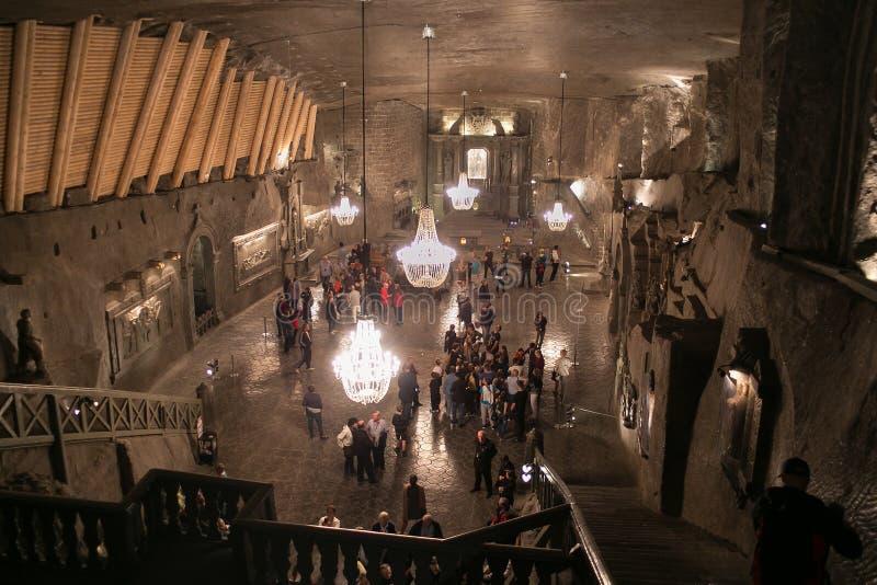 WIELICZKA, ΠΟΛΩΝΙΑ - 28 ΜΑΐΟΥ 2016: Παρεκκλησι του ST Kinga ` s στο αλατισμένο ορυχείο Wieliczka στοκ εικόνες