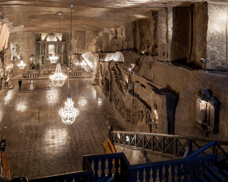Wieliczka - Polônia Museu da mina de sal St Kinga Chapel foto de stock royalty free