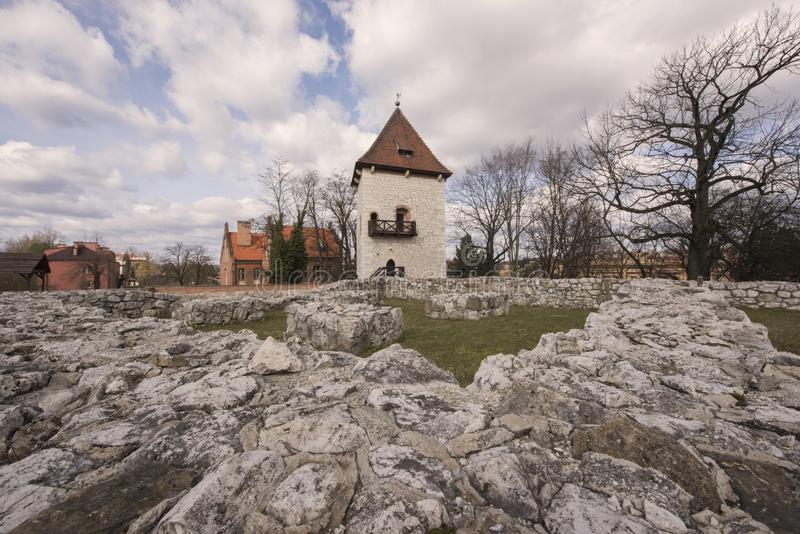Saltworks Castle, Tower and Saltworks Kitchen at Wieliczka, Poland. WIELICZKA, POLAND - MARCH 10, 2019 - Just outside of Krakow, is the town of Wieliczka famous royalty free stock photos