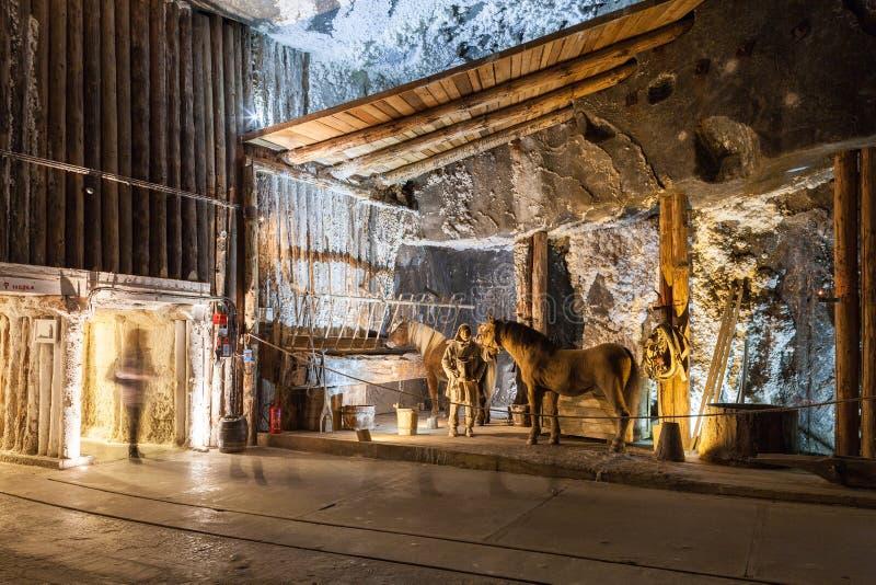 Wieliczka, Poland Museu da mina de sal imagens de stock