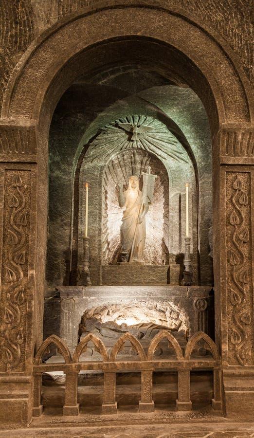 Wieliczka, Polen - Beeldhouwwerk van Jesus royalty-vrije stock foto's