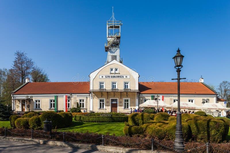 Wieliczka, Polen, Danilowicz-Schacht royalty-vrije stock afbeelding
