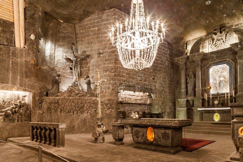 Wieliczka - Polen - Ondergronds Zoutmijnmuseum royalty-vrije stock afbeeldingen