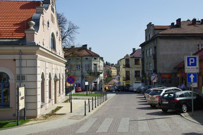 Wieliczka, REGIS - de historische zoutmijnschacht stock fotografie