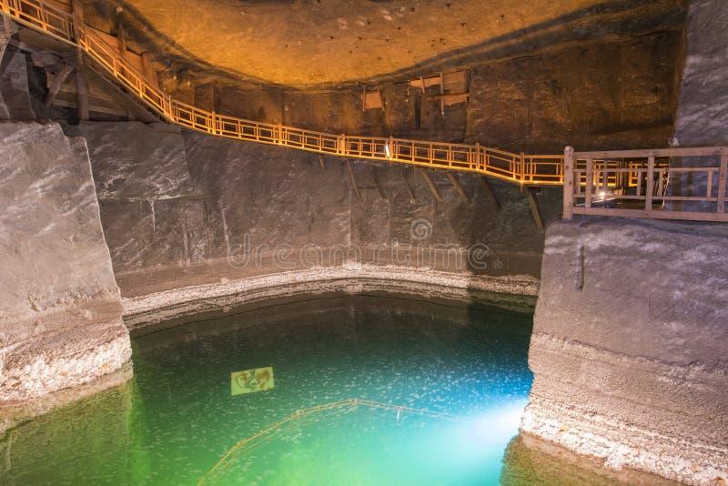 Wieliczka Salzbergwerk stockbild