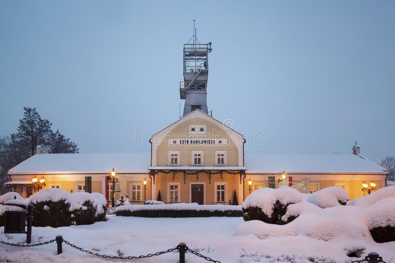 Wieliczka Salzbergwerk. Szyb RadziÅowicza stockfotos