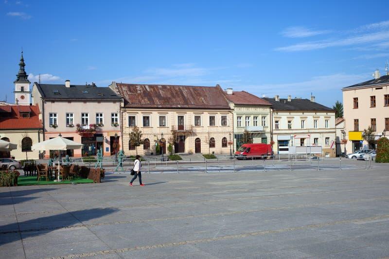 Wieliczkastad in Polen stock fotografie