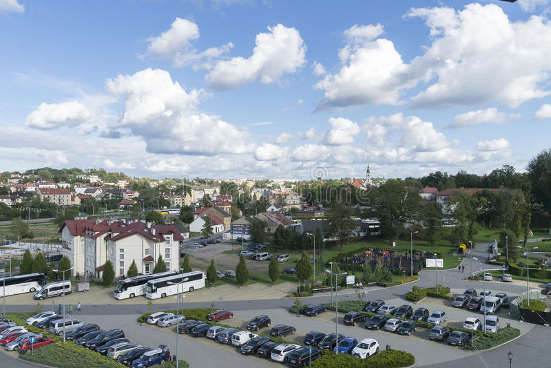 Wieliczkastad in Polen royalty-vrije stock foto