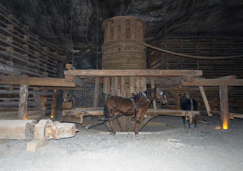 Wieliczkazoutmijn, Polen stock fotografie
