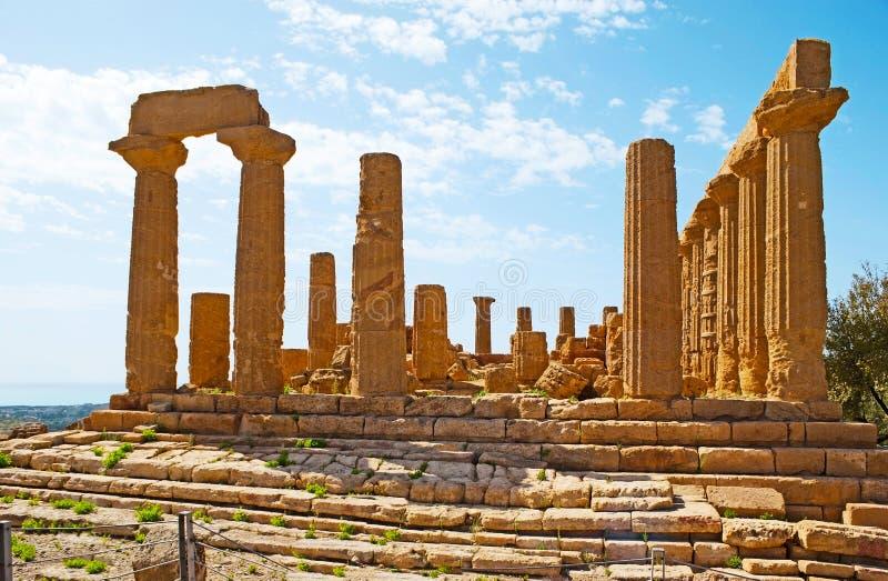 Wielka świątynia Juno zdjęcia royalty free