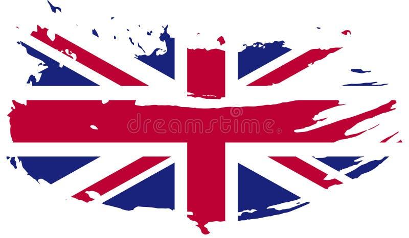 Wielka Brytania flaga - Grunge wektoru flaga zdjęcia stock