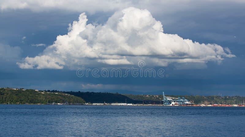 Wielka cumulonimbus chmura zdjęcie royalty free