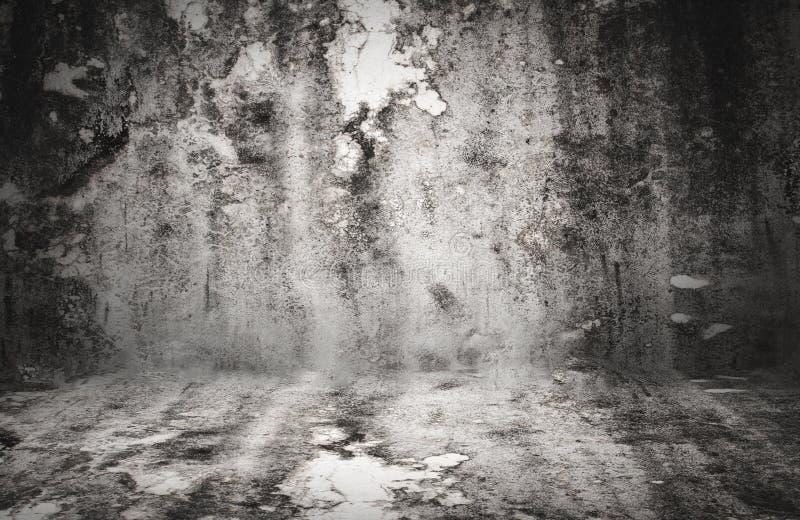 Wielka grungy ściana z czarną winietą - wielką dla use jako twój półdupki obrazy stock