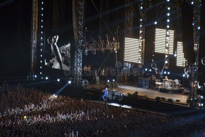 Red Hot Chili Peppers zespół rockowy występ w Kie obraz stock