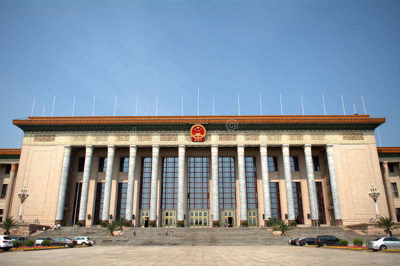 Wielka Hala ludzie, Pekin, Chiny zdjęcia stock