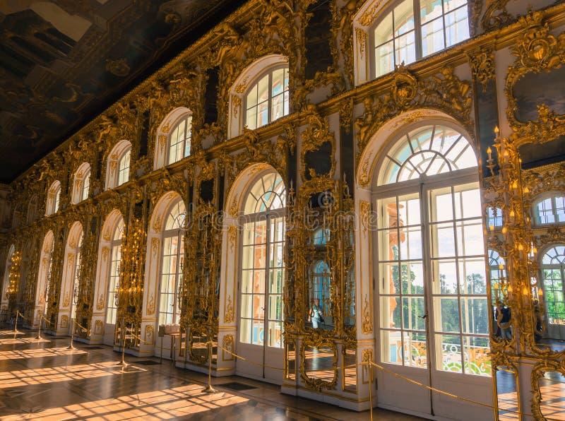 Wielka Hala w Catherine pałac obraz royalty free