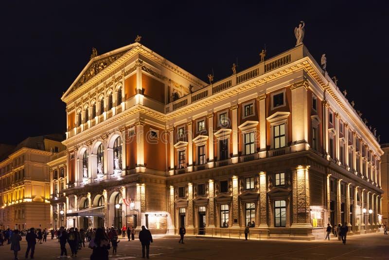 Wielka Hala Wiener Musikverein w Wiedeń obrazy stock