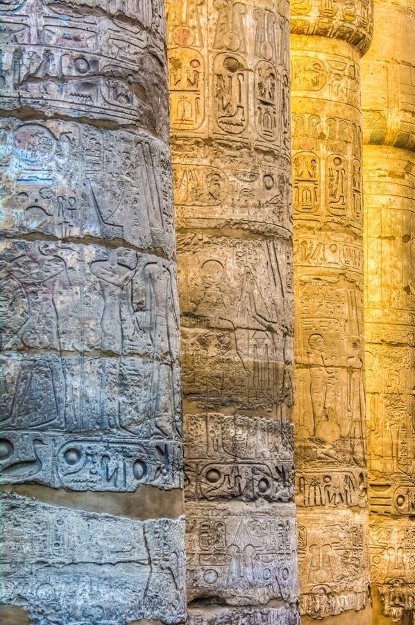 Wielka hipostyl sala, Karnak świątynia, Luxor, Egipt zdjęcia royalty free