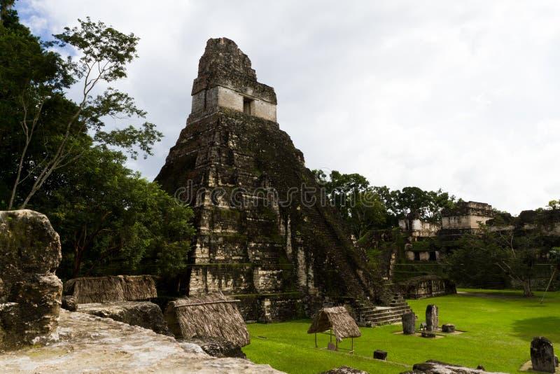 Wielka Jaguar świątynia, Tikal, Gwatemala zdjęcie stock