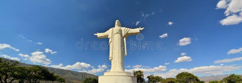 Wielka Jezusowa statua na całym świecie, Cochabamba Boliwia obraz stock