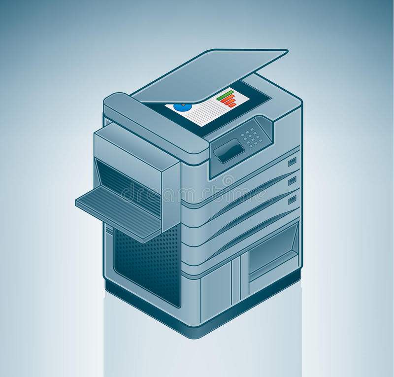 wielka laserowa biurowa drukarka royalty ilustracja