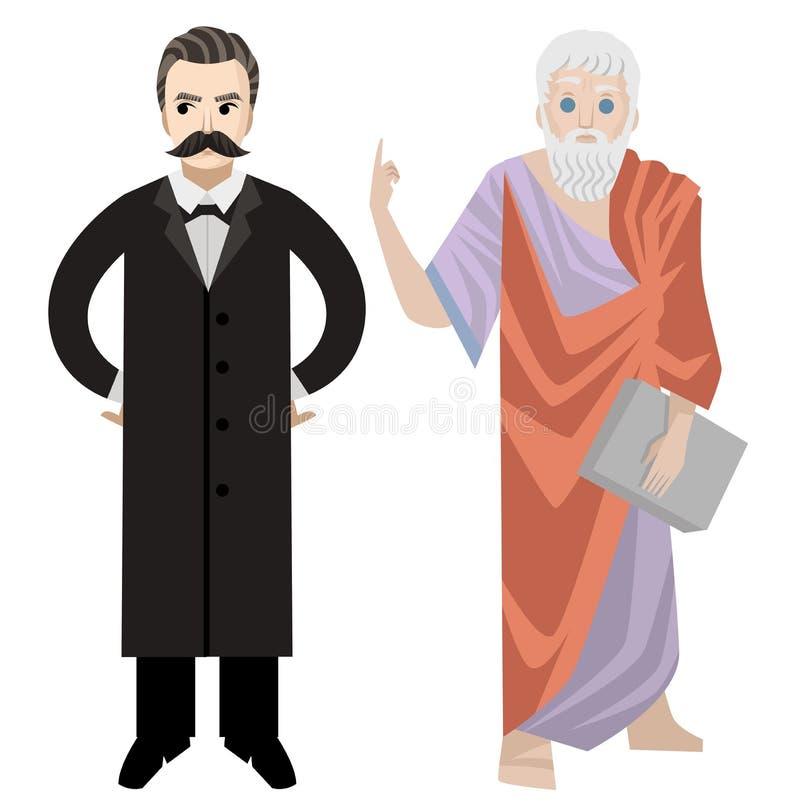 Wielka niemiecka filozof pozycja ilustracji