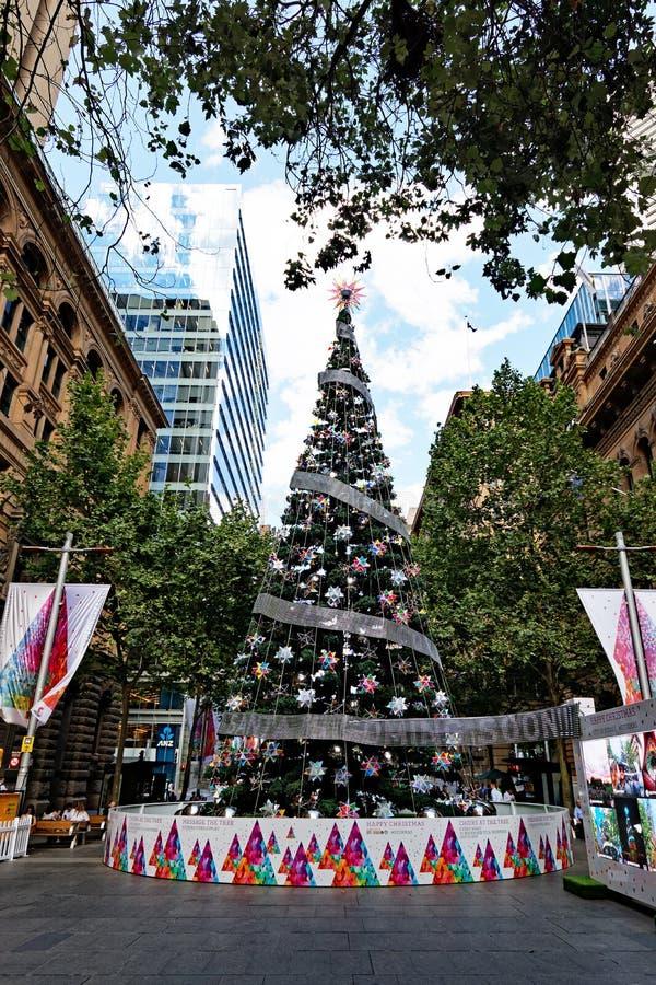 Wielka Obywatelska choinka, Martin miejsce, Sydney, Australia obraz royalty free