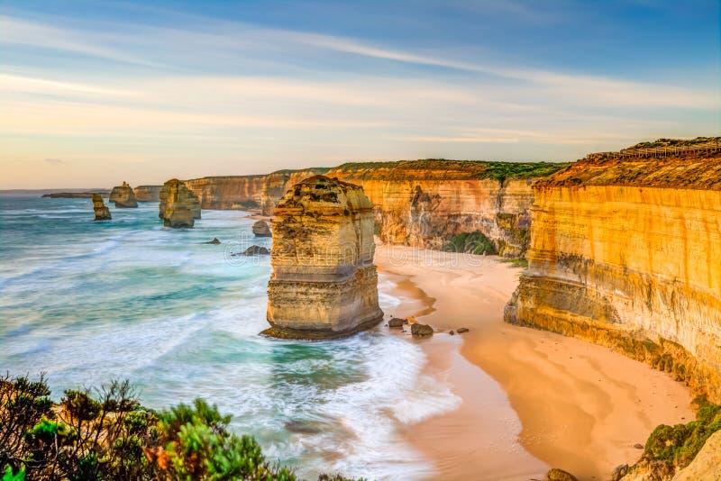 Wielka ocean droga: Dwanaście apostołów obraz royalty free