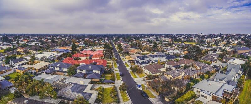Wielka powietrzna panorama nieruchomość w Carrum zdjęcie stock