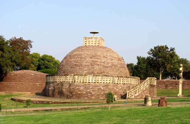 Wielka stupa żadny 2 sanchi India, Buddyjski zabytku światowe dziedzictwo zdjęcia royalty free