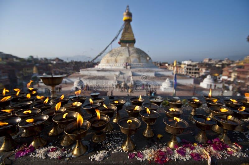 Wielka stupa obraz royalty free