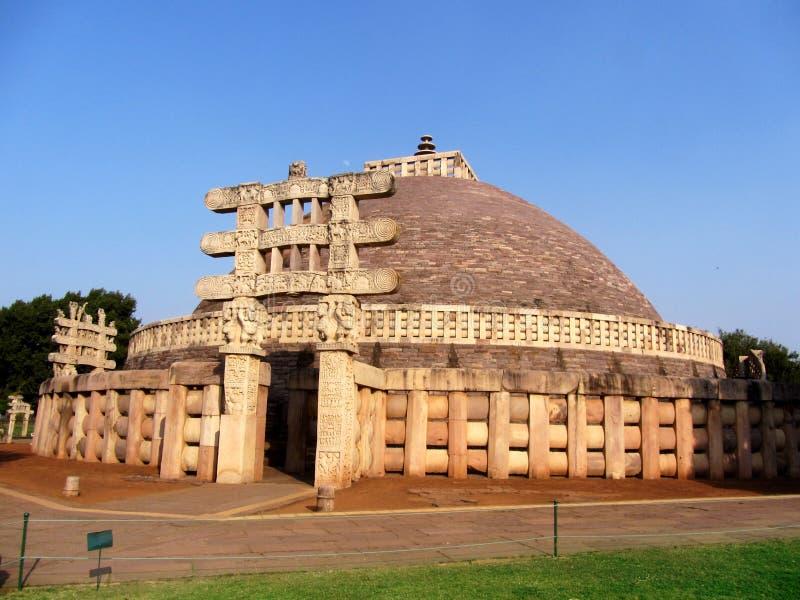 Wielka stupa sanchi India, Buddyjski zabytku światowe dziedzictwo zdjęcie royalty free