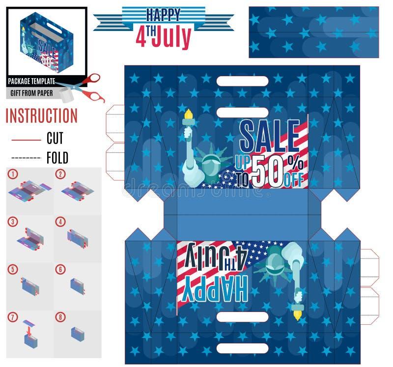 Wielka super sprzedaż dnia niepodległości szablonu paczka ilustracji