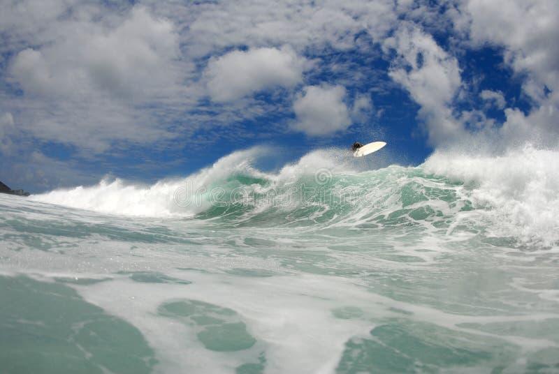 wielka surf zgładza lotnicza zdjęcia royalty free