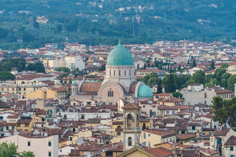 Wielka synagoga Florencja dzwonił Tempio Maggiore Tuscany capitol, Włochy zdjęcia royalty free