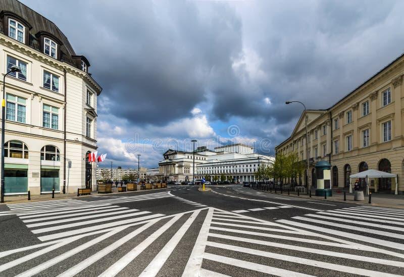 Wielka teatru i połysku Krajowa opera w Warszawa fotografia royalty free
