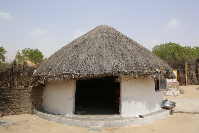 Wielka wersja Thari conical dachowa buda fotografia stock