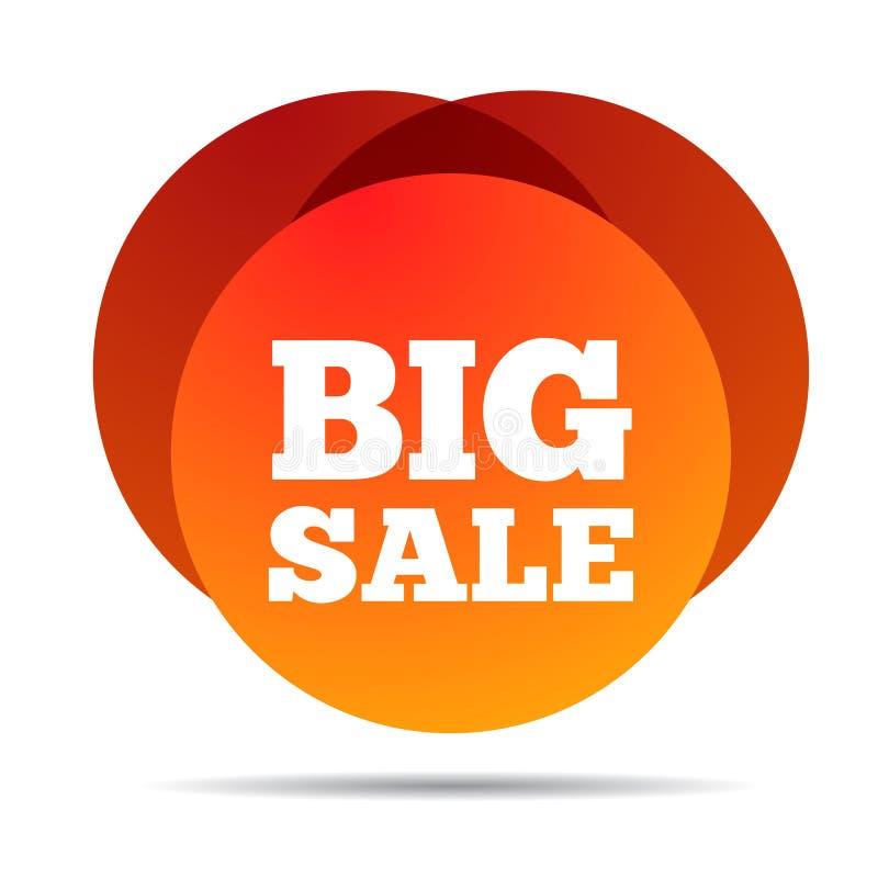 wielka wyprzedaż Specjalnej oferty ceny znak Reklamować rabata symbol Gradientowa sprzedaży etykietka Abstrakcjonistycznego zakup ilustracja wektor