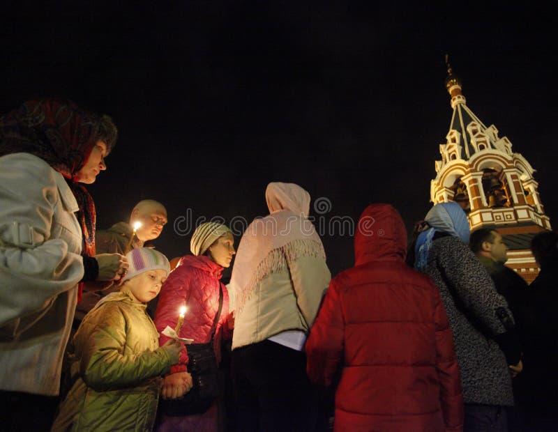 Wielkanoc: Chodzący round kościół 3 czasu obrazy stock