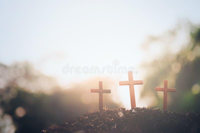 Wielkanoc, chrystianizmu copyspace tło fotografia royalty free