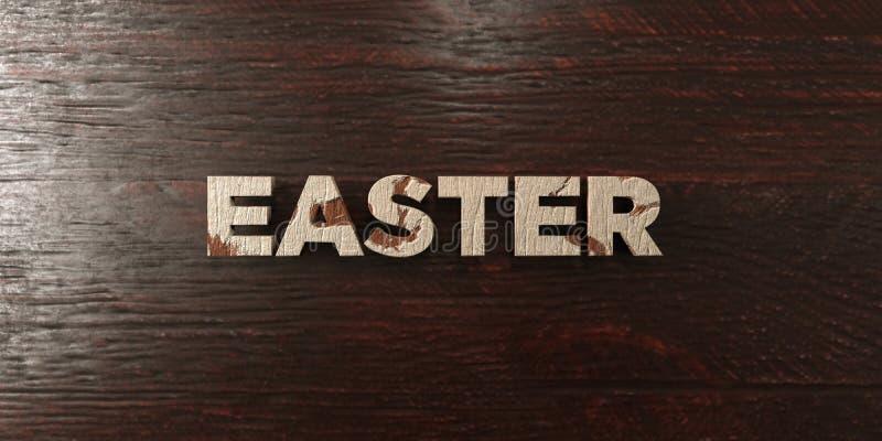 Wielkanoc - grungy drewniany nagłówek na klonie - 3D odpłacający się królewskość bezpłatny akcyjny wizerunek ilustracji