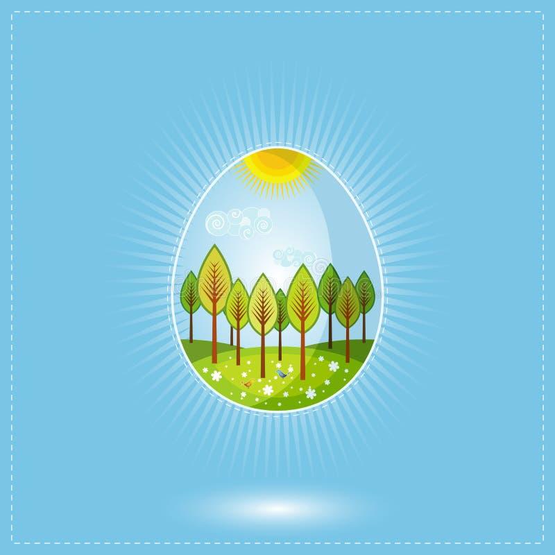 wielkanoc jajka jeden wektor ilustracji