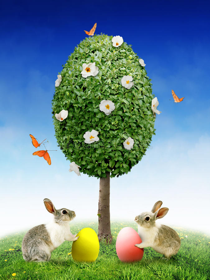 Wielkanoc karty obrazy royalty free