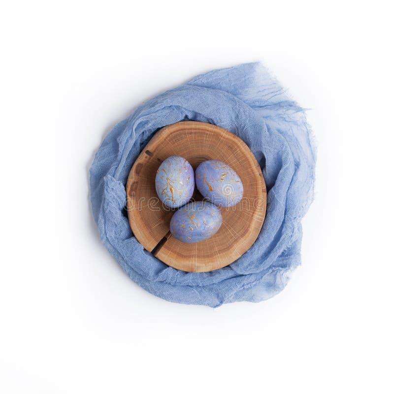 Wielkanoc karty Kreatywnie gniazdeczko z jajkami zdjęcia stock